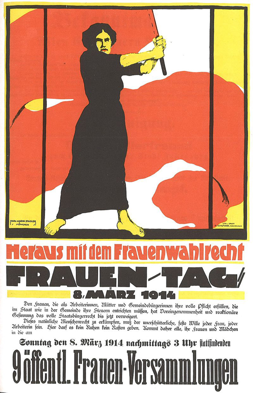 German poster for International Women's Day, March 8, 1914