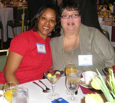 Evonne Johnson and Elise Pupo of the Cleveland Clinic