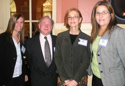 Kelly Stenger of Sammy's, James Harris of H/L Communications, Linda Cattani and Mary Kline of Sammy's