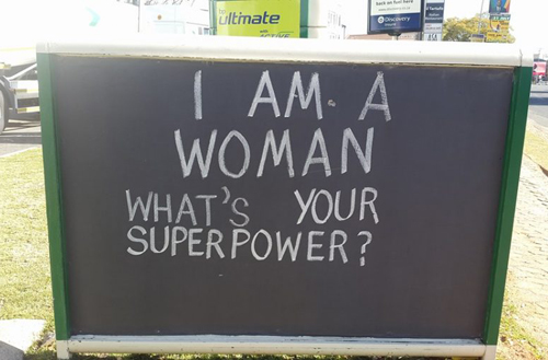 I am woman chalkboard