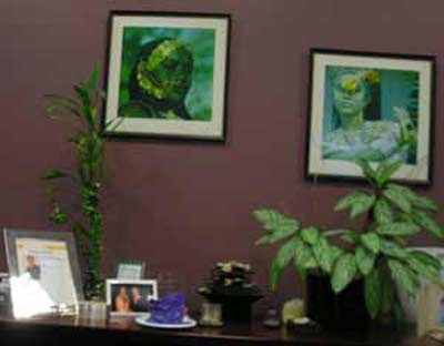 Wall in Barbara Danforth's office