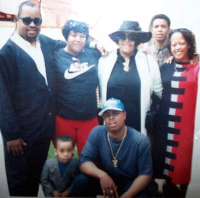 Juanita Carrothers with family