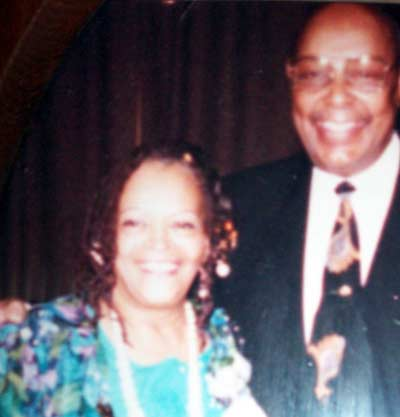 Juanita Carrothers with Congressman Louis Stokes