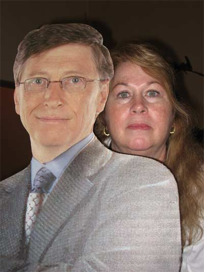 Caryl Hall with Bill Gates