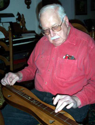 Bernie Champa with dulcimer