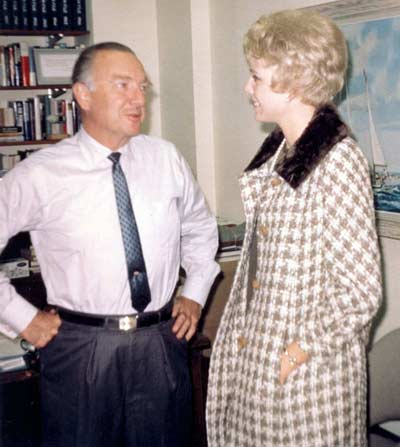 Walter Cronkite with Jenny Crimm