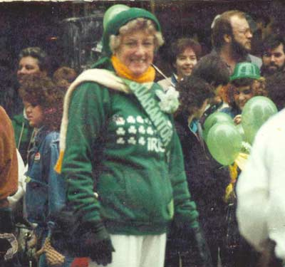 Helen Bacon at a St Patricks' Day Parade