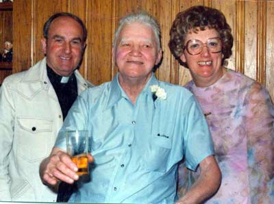 Helen and Bud Bacon at anniversary party in 1979