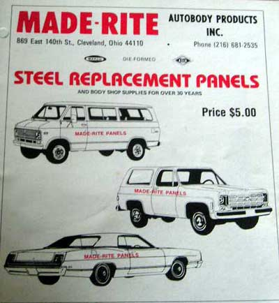 Made-Rite auto body sign