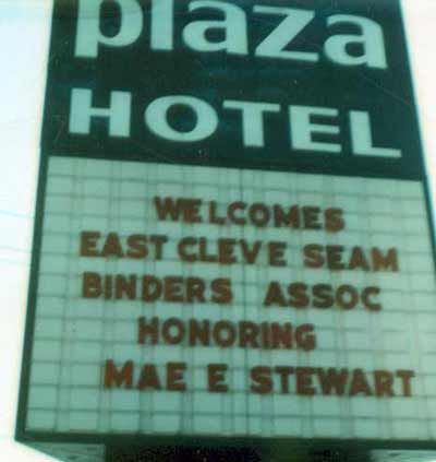 Mae Stewart and SEAM Award at Plaza Hotel