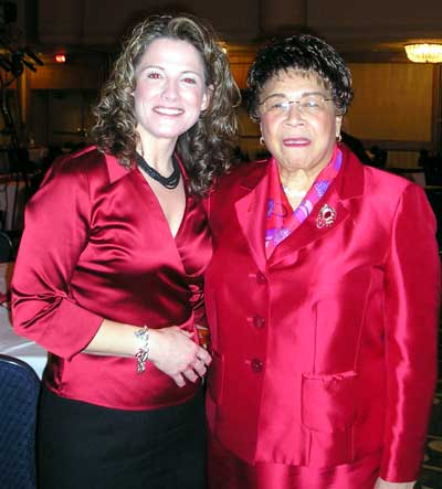 Margaret Bobonich with Dr. May L. Wykle, Dean of Nursing at Francis P. Bolton School of Nursing at Case Western Reserve