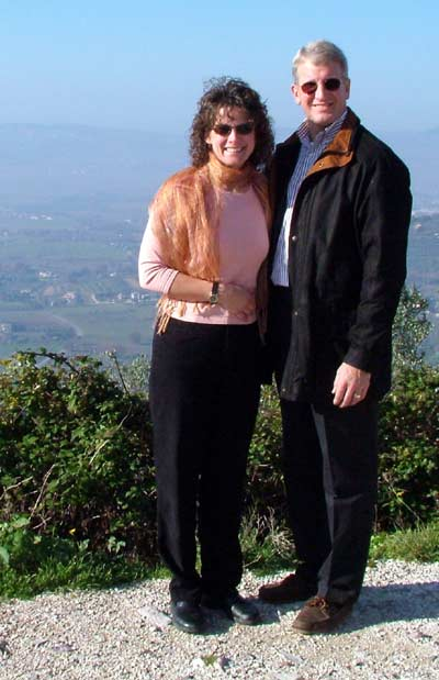 Margaret Bobonich and husband Steve in Italy