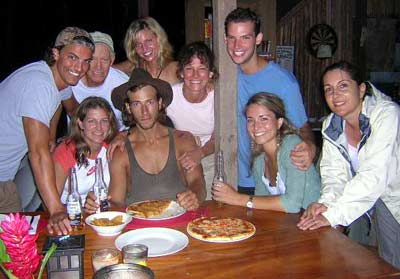 Party after getting voted off of Survivor