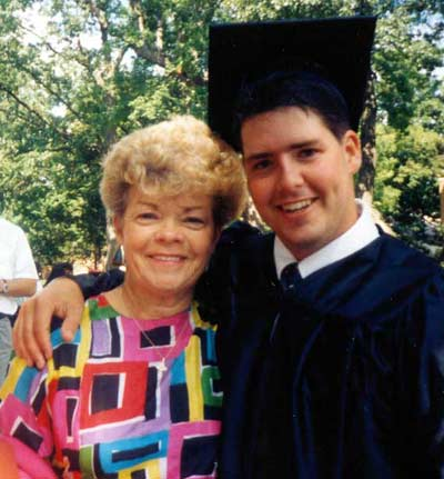 Mary Fitzpatrick with son Tommy at graduation