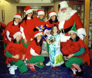 Santa Claus with Elves