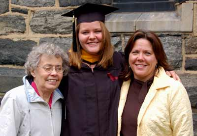 Susan's Mom with graduate Clare and Susan