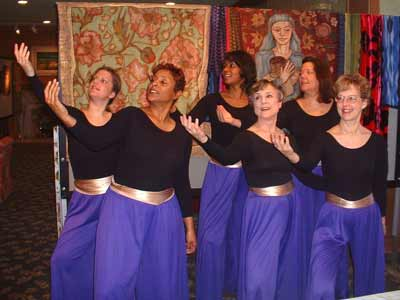 Sue Lanphear in Liturgical Dance Group