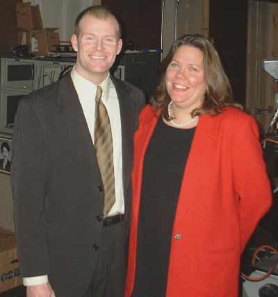 WKYC Meteorologist Mark Nolan and Sue Lanphear