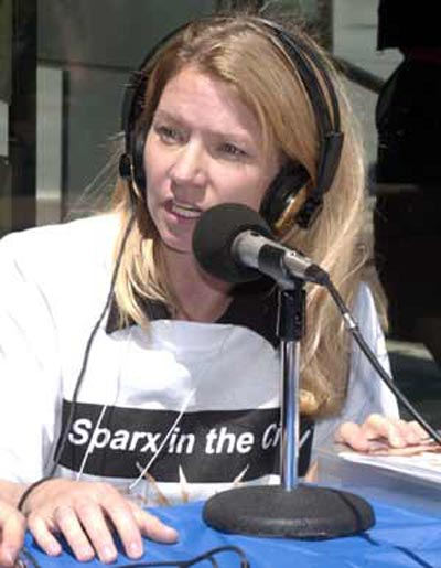 Susie Frazier Mueller promoting Sparx in the City