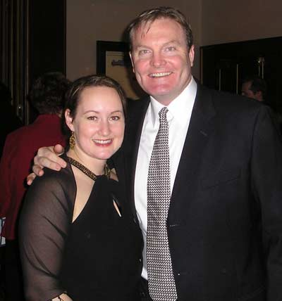 Kate and Eric Wedge at the Cleveland Sports Banquet in 2007 - Dan Hanson photo