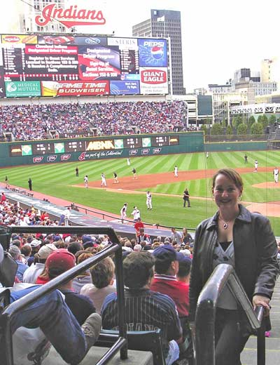 Kate Wedge at Jacobs Field - home of Cleveland Indians