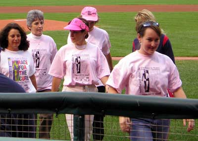 Kate Wedge at Race for the Cure Day at Jacob's Field