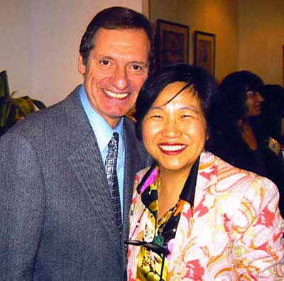 Margaret Wong with Cleveland Institute of Music president David Cerone