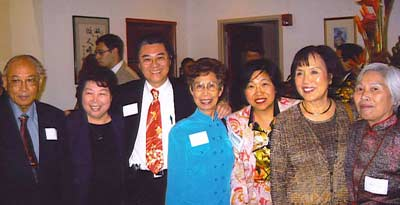 Margaret Wong with Professor Wen D. Ko, Lily Ying, George Hoang, Mrs Ko, Mrs Haw and Mrs Yan